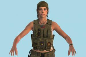 Resident Evil Remake Claire Military Girl